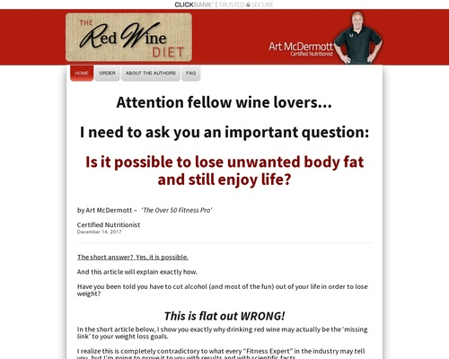 The Red Wine Diet – The fast-growing...